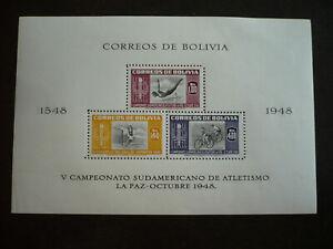 Stamps - Bolivia - Scott# 358a - Souvenir Sheet
