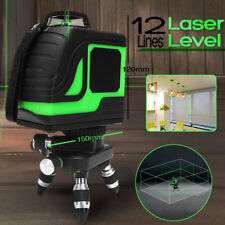 12 Lines 4Ah 3D 360° Rotary Laser Level Green Cross Self Leveling Measure Tool