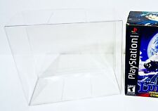 1 Box Protector For LUNAR 2 ETERNAL BLUE  Playstation Clear Custom Display Case