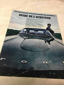 Ford Capri 20M 26M Escort 17M 12M 15M Mustang catalogue prospectus brochure