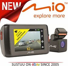 "Mio MiVue 698 DUAL 2.7"" DVR anteriore e posteriore 1080p HD GPS Registratore Incidente Dashcam"