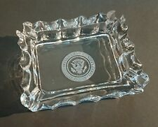 More details for rare 1970s official seal of the president white house cut crystal glass ashtray