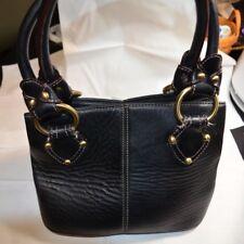Leather Pocketbook, Clarks, Black plus Black Leather Wallet Included