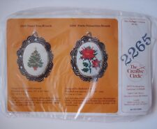 The Creative Circle Tinsel Tree Brooch 2265 - Cross Stitch Kit - Sealed, New