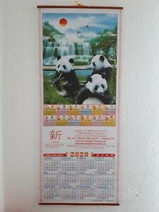 "Chinesischer Wandkalender 2020 ""Panda"""