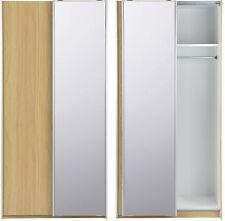NEW Tesco Smith Compact Sliding Mirrored 2 Door Double Wardrobe (Oak Effect)