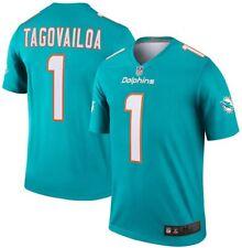 Tua Tagovailoa Miami Dolphins #1 Youth Boy's Aqua On-Field Jersey