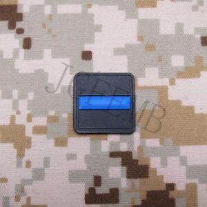 2 pieces The thin Blue line flag Police SWAT 3D PVC Patch