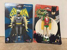 Batman & Robin Figures Bendable Poseable DC Comics by NJ Croce New