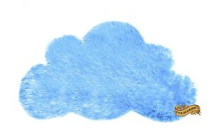 Kids Childrens Baby Nursery Shag Play Accent Rug Cloud Shaped Area Rug  9 COLORS