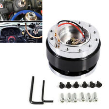 Universal Steering Wheel Car Quick Release Hub Adapter Snap Off Boss Kit Black