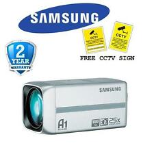BR Samsung SCZ-2250P High Resolution 600TVL 25x Zoom True Day/Night Camera CCTV