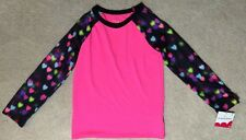 jumping beans Girl's Pink/Black Hearts Activewear Shirt - Size 6 - NEW