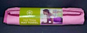 """GAIAM HOT YOGA MAT TOWEL, PINK, 26""""X 72""""  ~ Brand New"""