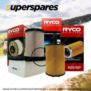 Ryco Oil Air Fuel Filter Service Kit for Audi A3 8P TDI 4cyl Engine BLS BMN