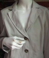 Womens LL BEAN Khaki Tan Jacket 100% Cotton Size 8 Blazer Front Pockets Lined