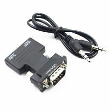 Hdmi Hembra A Macho Vga convertidor con adaptador de audio de apoyo 1080P señal de salida