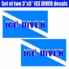 Ice Diver Down scuba sticker decal diver laminated graphic Toolbox cold frost