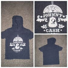 Johnny Cash Black & White Toddler Hoodie Short Sleeve Pullover Top 4T