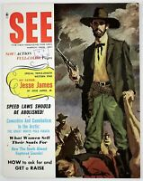 March 1958 FURY Mens Magazine, Jesse James, Cannibalism in the North Pole