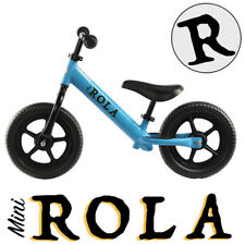 "Blue 12"""" Balance Bike Kids Childrens No Pedal Learning Bicycles BMX Childs Boys"