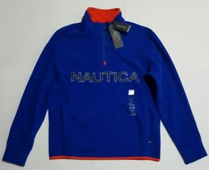 Bnwt Nautica 1/4 Zip Mens Blue Jumper Nautex Fleece Size XS