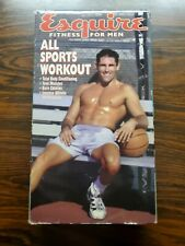 Esquire Fitness For Men All Sports Workout Vintage Vhs Tape 1997 RARE