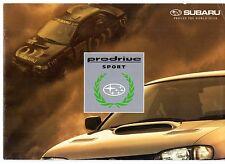 Subaru Impreza 2000 Turbo Prodrive Edition 1995 UK Market Sales Brochure