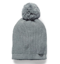 1f2db418255 NEW Under Armour UA Women s Favorite Waffled Textured Knit Pom Beanie Gray