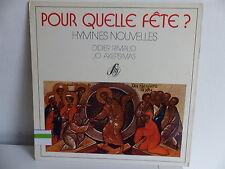 DIDIER RIMAUD / AKEPSIMAS Pour quelle fete? Hymnes nouvelles SM 30M 484