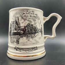 More details for vintage the mill bridge royal leamington spa ceramic mug mercian china england