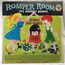 Romper Room TV's Nursery School Songs and Games LP Record