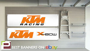 KTM Racing Banner for Workshop, Garage, Office etc, X-Bow etc