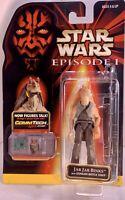 Star Wars Jar Jar Binks Action Figure With CommTech Chip Episode 1 Hasbro - NIP