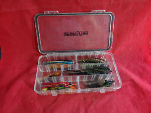 A GOOD SPORTSFISH FLY/LURE BOX + COLLECTION OF GOOD SALMON TUBE FLIES