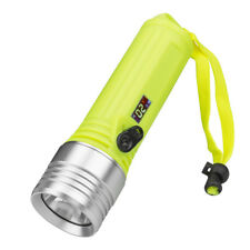 XML LED Diving Scuba Flashlight Underwater 100M Rechargeable LCD Torch 18650