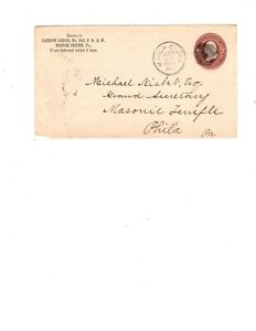 US  postal stationary  1887 2c brown
