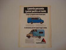 advertising Pubblicità 1979 LAVERDA CAMPER/AUTOCARAVAN