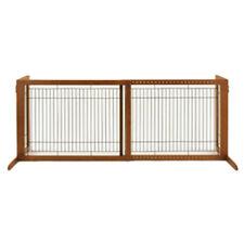 Richell Wood Freestanding Pet Gate, High-Large, Autumn Matte Finish 94147 New
