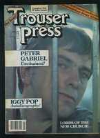 Trouser Press January 1983 Peter Gabriel Lords of the New Church Iggy Pop MBX49