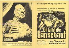 LON CHANEY JR - YOLANDA VARELA - LA CASA DEL TERROR * GERMAN MOVIE PROGRAM!