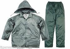 Delta Plus Panoply EN400 Green PVC Waterproof Rainsuit Trousers Jacket Coat