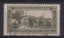 SAN MARINO LIRE 5 1932 CINQUANTENARIO MORTE DI GARIBALDI USATO CATALOGO SS. 175