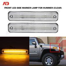 For Hummer H2 2003-2009 LED Side Marker Light Clear Amber Fender Marker Lamp