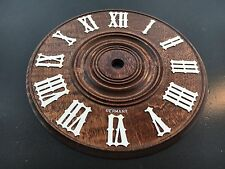 "5 1/8"" Wood Cuckoo Clock Dial Made in Germany"