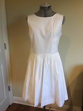 NWT Marc by Marc Jacob White Cotton  Faux-Wrap Casual Dress Size 8