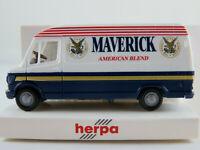 """Herpa 041805 Mercedes-Benz 207 D Kasten (1977-1995) """"MAVERICK"""" 1:87/H0 NEU/OVP"""