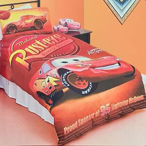 Pixar Cars 95 Lightning McQUEEN Rust-Eze Kids Doona Quilt Cover Set | Double