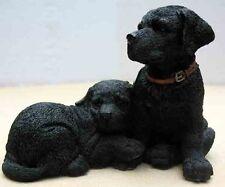 COUNTRY ARTISTS PUPPIES-BLACK LABRADOR PUPPY PAIR FIGURINE-ITEM #90793