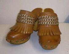 ASH Tan Leather Clog Mules. Size 5/38. BNIB
